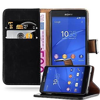 Case for Sony Xperia Z3 Compact Foldable Phone Case - Cover - with Stand Function and Card Tray