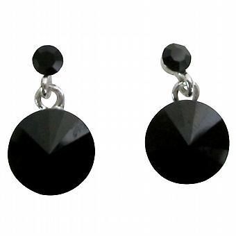 Formelle slitasje nydelig svart Crystal Stud øredobber