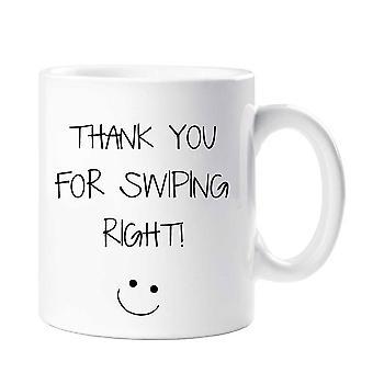 Vielen Dank für das Wischen richtige Mug