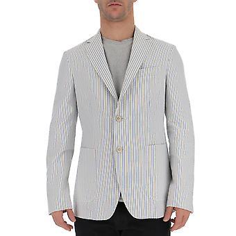 The Gigi Angietk023610 Men's Light Blue/white Cotton Blazer