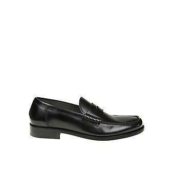 Doucal's Du1006belfus007nn00 Men's Black Leather Loafers