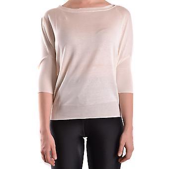 Elisabetta Franchi Ezbc050007 Women's Beige Silk Sweater