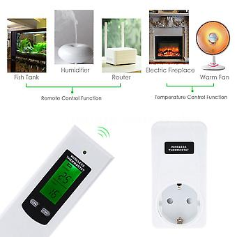Wireless thermostat RF 433MHz frost and temperature control 3KW