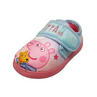 Peppa Girls Tana Touch Close Slippers