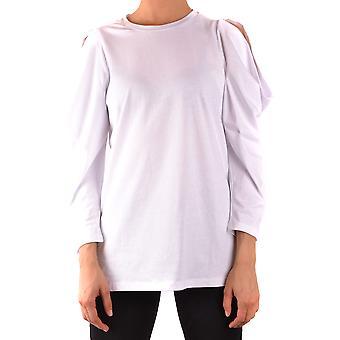 Pinko Ezbc056270 Kvinder's Hvid Bomuldsweater