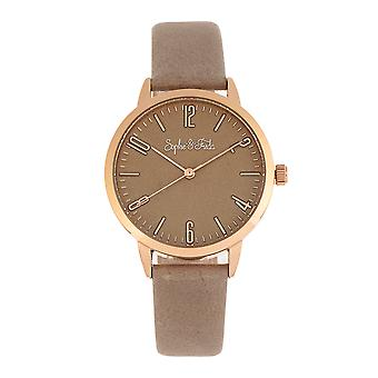 Sophie and Freda Vancouver Leather-Band Watch - Tan