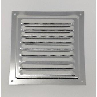 Air Vent Grill 150 x 150 mm - Metal - Aluminium Rust Free with Mosquito / Bug Net