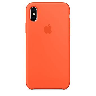 iPhone X用オリジナルパックMR6F2ZM/アップルシリコーンマイクロファイバーカバーケース - オレンジ