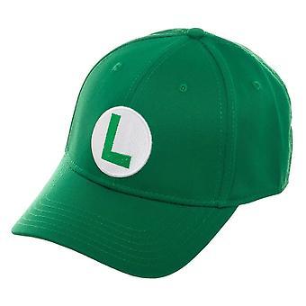 Baseball Cap - Super Mario - Luigi Flex Fit Cap New Licensed bx6u48smb