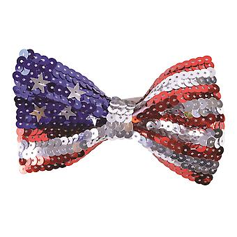 Bristol Novelty Unisex Adults USA Sequin Bow Tie