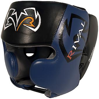 Rival Boxing RHG20 Training Headgear with Cheek Protectors - Black/Blue