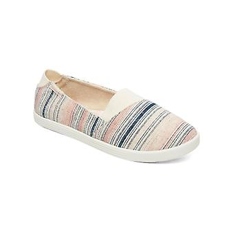 Roxy Young Womens Danaris Canvas Casual Shoes - Pink Stripes