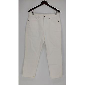 Women with Control My Wonder Cropped Jeans w/ Fray White A290740