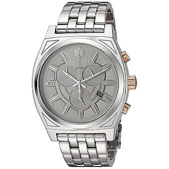 Nixon Time Teller Japanese Quartz Analog Man Watch with A972SW2445 Stainless Steel Bracelet