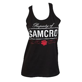 Sons Of Anarchy Black Property Of SAMCRO Women's Tank Top