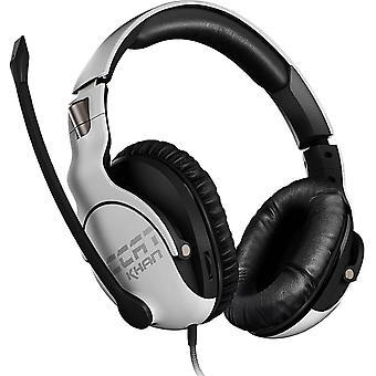 Roccat KHAN PRO ανταγωνιστική υψηλής ανάλυσης ακουστικά παιχνιδιών λευκό