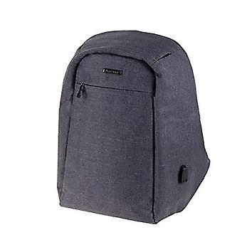 LIGHTPAK - 600d nylon Safepak backpack for 15-inch notebooks - anti-theft - USB charging port - 45 cm - Grau (Gray) - 46153