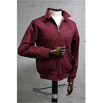 Merc London Harrington Wine Cotton Jacket