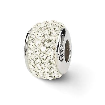 925 plata esterlina pulido reflexiones crema de cristal completo encanto colgante collar regalos de joyería para las mujeres