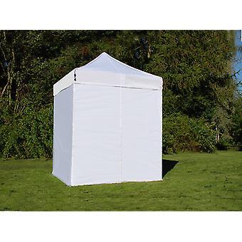Pop up huvi Maja FleXtents Basic v. 2, 2x2 m valkoinen, sis. 4 sivu seinää