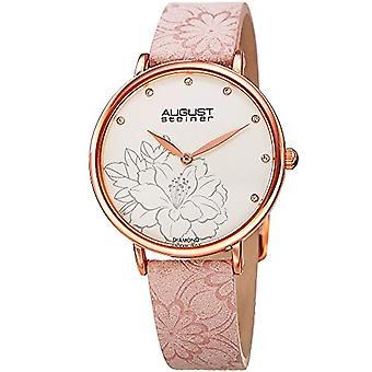 August Steiner Clock Woman Ref. AS8242BL_Dusty Pink