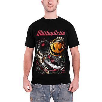 Motley Crue T Shirt Halloween Pumpkin Slash band logo Official Mens  Black