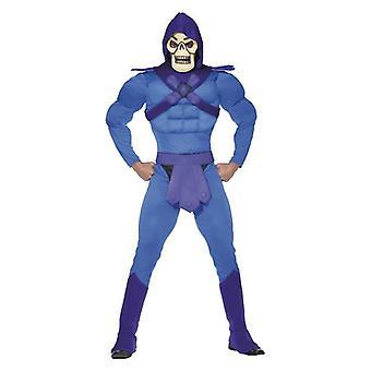 Pánske Skeletor svalovej maškarné šaty kostým & maska halloween