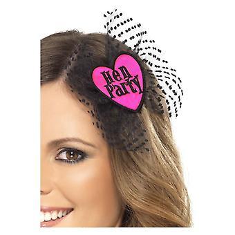 Addio al nubilato prua di capelli, rosa, con reticolato costume accessorio