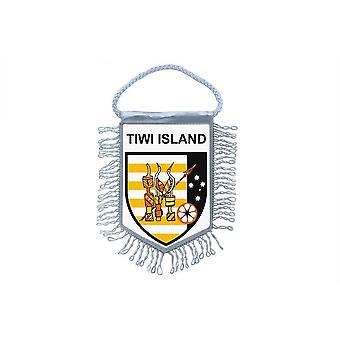 Vlag mini vlag land auto decoratie souvenir Blason Tiwi eilanden eiland