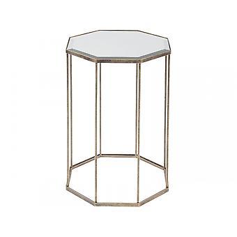 Waage Möbel achteckig verspiegelt und Antik Gold Beistelltisch