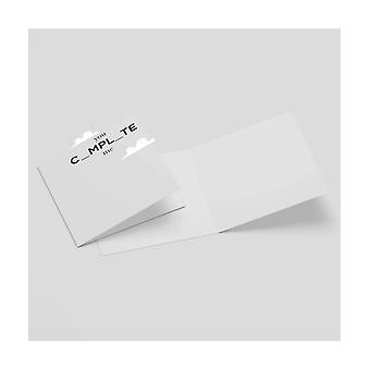 You Complete Me Square Greetings Card (14.8cm x 14.8cm)