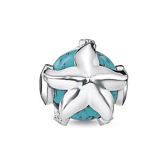 Thomas Sabo Karma Beads Thomas Sabo Turquoise Silver Zirconia Starfish Karma Bead K0293