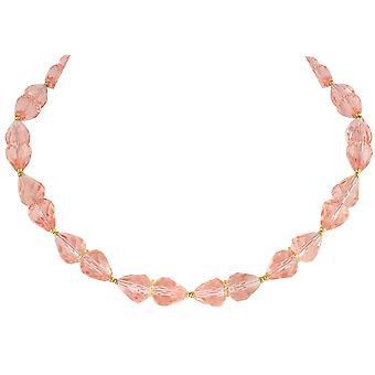 Eternal Collection Sophistication Rose Pink Crystal Tone Necklace