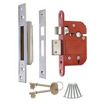 Era Fortress 5 Lever Mortice Sashlock With Satin Effect