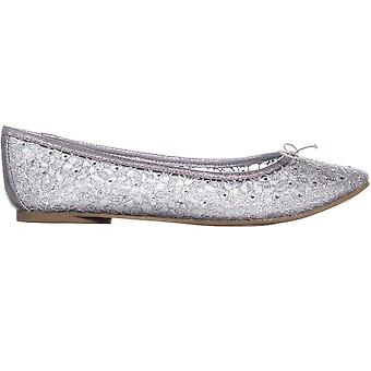 Adrianna Papell Shirley Bow Tie Ballet Flats, Silver, 9 US