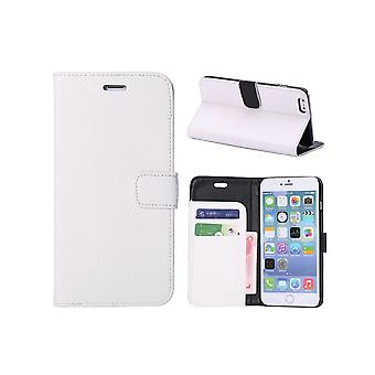 IPhone Portfolio Case 6 Plus Mock White Leather