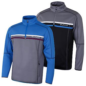 Island Green Mens Golf Contrast Detail Zip Neck Thermal Sweater
