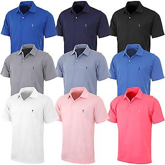Fairway & Greene Mens Solid Tech Pique Golf Polo Shirt