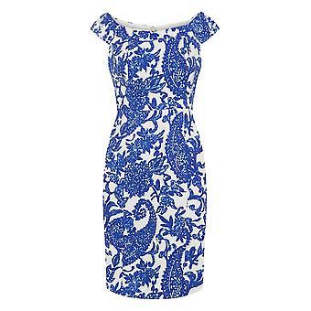 Kultaseni naiset ' s sininen valkoinen Brigette Lyijy kynä mekko