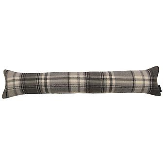 Mcalister textiles heritage tartan charcoal grey fabric draught excluder