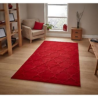HK 8583 Red  Rectangle Rugs Plain/Nearly Plain Rugs
