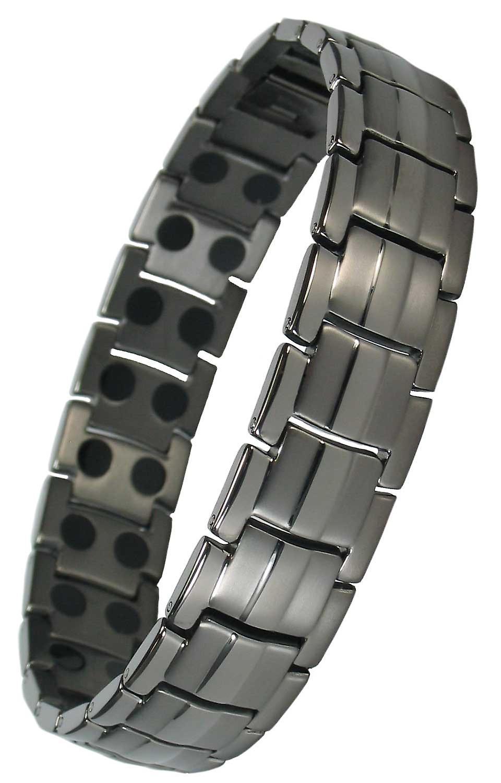 MPS® EUROPE Gunmetal Titanium Magnetic Bracelet + FREE Links Removal Tool