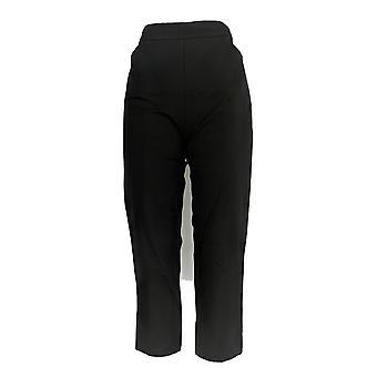 Isaac Mizrahi Live! Kvinner ' s bukser 24/7 strekk beskjære svart A351754