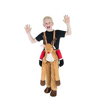 Rentier Rudolf Huckepack Trag mich Kinder Kostüm