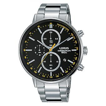 Uhr Lorus RM355FX9 - SPORT Chronograph/Dateur Silber Stahl Armband Holz Silber Stahl Herren Silber