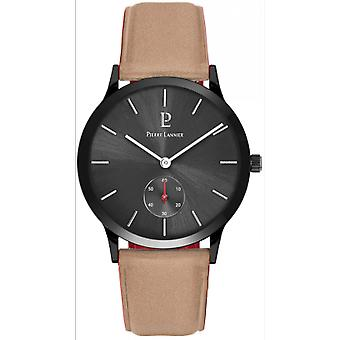 Assista Pierre Lannier 222F384 - STYLE Bo tier Steel Black Leather Bracelet Leather Cadran Soleill Men