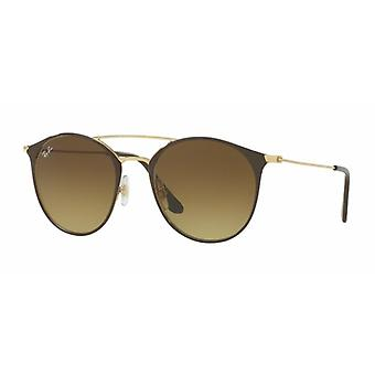 Ray-Ban RB3546 9009/85 Lunettes de soleil Brown-Gold/Brown Gradient