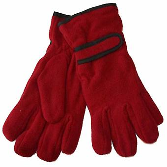 Ladies Warm Fleece Winter Gloves Thermal Thinsulate Lined & Wrist Strap GL136