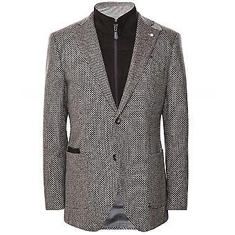 Luigi Bianchi Wool Houndstooth Removable Bib Jacket