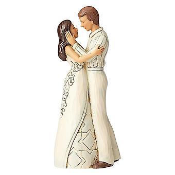 Jim Shore From The Heart Our Love Is Everlasting Couple Embracing Figurine
